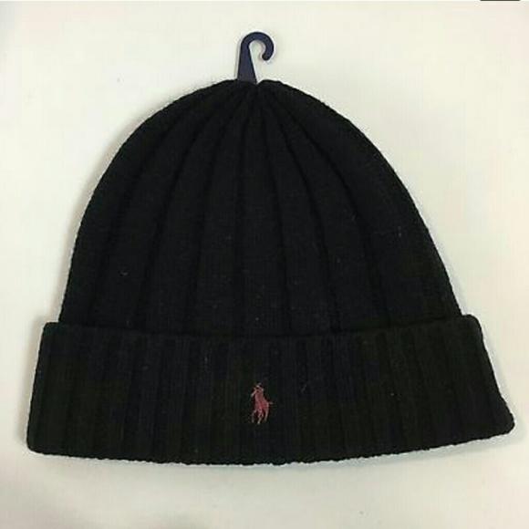 4c463b7fd9a Ralph Lauren Polo Merino Wool Hat W Maroon Logo